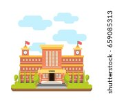 school building  | Shutterstock .eps vector #659085313