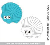 funny seashell to be traced... | Shutterstock .eps vector #659087227