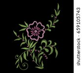 traditional folk fashionable...   Shutterstock .eps vector #659105743