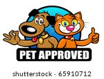pet approved seal  mark  emblem