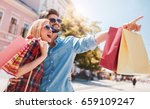 shopping. beautiful young... | Shutterstock . vector #659109247