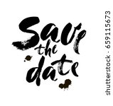 save the date hand lettering... | Shutterstock .eps vector #659115673