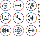 dart icons set. set of 9 dart... | Shutterstock .eps vector #659120227