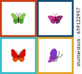 flat icon monarch set of summer ... | Shutterstock .eps vector #659122957