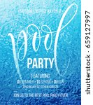 pool party poster with blue... | Shutterstock .eps vector #659127997