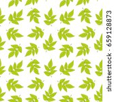 seamless pattern with green...   Shutterstock .eps vector #659128873