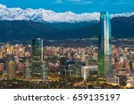 skyline of santiago de chile at ... | Shutterstock . vector #659135197