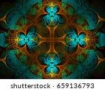 mosaic flower cross background  ... | Shutterstock . vector #659136793
