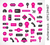vector stickers  price tag ... | Shutterstock .eps vector #659139487