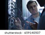 nice professional technician... | Shutterstock . vector #659140507