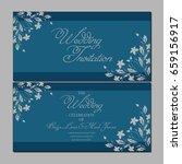 wedding invitation card | Shutterstock .eps vector #659156917