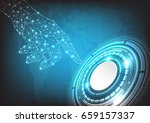 vector hand and circle tech on... | Shutterstock .eps vector #659157337