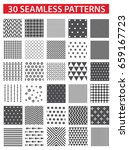 seamless patterns with fabric... | Shutterstock .eps vector #659167723