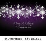 purple christmas background... | Shutterstock . vector #659181613