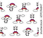 seamless pattern with cute... | Shutterstock .eps vector #659196847