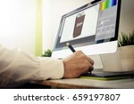 packaging  designer working.... | Shutterstock . vector #659197807