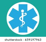 medical snake and cross ... | Shutterstock .eps vector #659197963