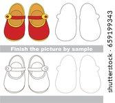 drawing worksheet for preschool ... | Shutterstock .eps vector #659199343