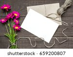 blank white greeting card and... | Shutterstock . vector #659200807