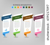 four banners for infographics ... | Shutterstock .eps vector #659217097