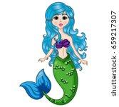 mermaid character  cartoon hand ... | Shutterstock .eps vector #659217307