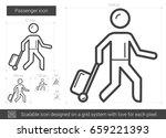 passenger vector line icon... | Shutterstock .eps vector #659221393