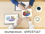 business people meeting to... | Shutterstock . vector #659237167