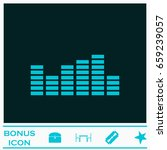 equalizer icon flat. blue... | Shutterstock .eps vector #659239057