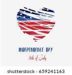 usa independence day background.... | Shutterstock .eps vector #659241163