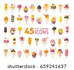 collection of 45 yummy ice... | Shutterstock .eps vector #659241637