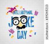 Happy Joke Day. Vector...