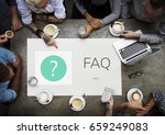 faq customer service help... | Shutterstock . vector #659249083