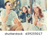 portrait of happy family having ... | Shutterstock . vector #659255017