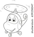 coloring page outline of... | Shutterstock .eps vector #659258347