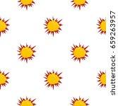 terrible explosion pattern... | Shutterstock .eps vector #659263957