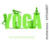 concept of yoga  health... | Shutterstock .eps vector #659266807