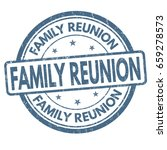 family reunion sign or stamp on ... | Shutterstock .eps vector #659278573