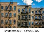 new york buildings with outside ... | Shutterstock . vector #659280127