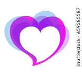violet heart  on a white | Shutterstock .eps vector #659285587