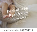 family parentage home love... | Shutterstock . vector #659288317