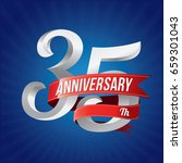 35 years anniversary... | Shutterstock .eps vector #659301043