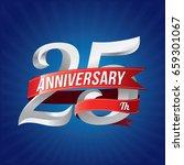 25 years anniversary... | Shutterstock .eps vector #659301067