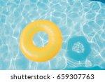 bright orange float in blue... | Shutterstock . vector #659307763