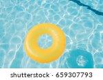 bright orange float in blue...   Shutterstock . vector #659307793