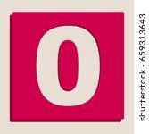 number 0 sign design template... | Shutterstock .eps vector #659313643
