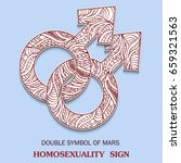symbol of male homosexuality is ... | Shutterstock .eps vector #659321563