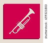 musical instrument trumpet sign.... | Shutterstock .eps vector #659321803