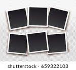set of square frame template... | Shutterstock .eps vector #659322103