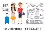travel arrangements with... | Shutterstock .eps vector #659331847