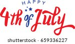 calligraphic 4th of july vector ... | Shutterstock .eps vector #659336227